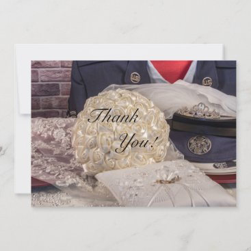 Military Wedding Thank You Card