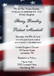 Military Wedding Theme Invitations 5