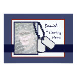 Military Welcome Home 5x7 Paper Invitation Card
