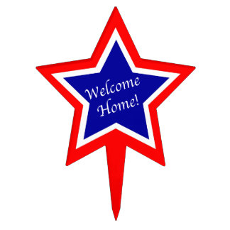 Military Welcome Home Cake Topper