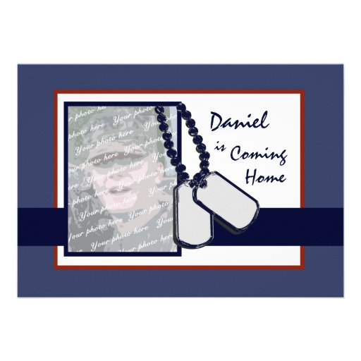 Military Welcome Home Personalized Invite