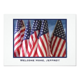 Military Welcome Home Party, American Flags