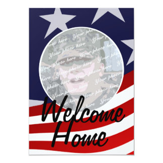 Military Welcome Home Party Card