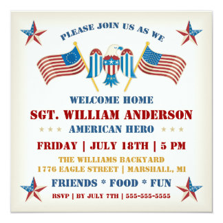 Military Welcome Home Party Invitation