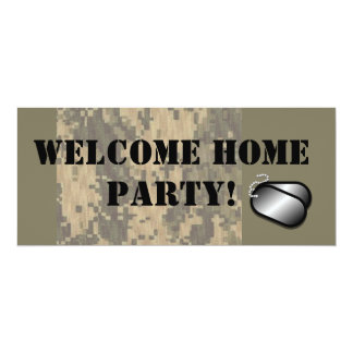 """Military Welcome Home Party 4"""" X 9.25"""" Invitation Card"""