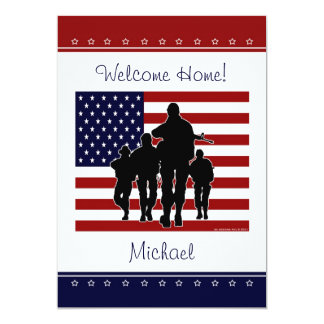 Military Welcome Home Personalized Name Invite