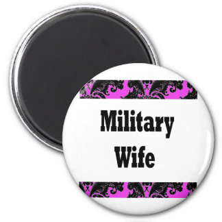 military wife2 2 inch round magnet
