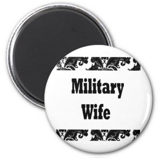 military wife 2 inch round magnet