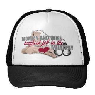Military Wife and Mommy Trucker Hat