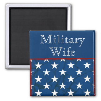 Military Wife Custom Personalized Name Magnet