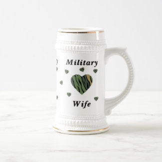 Military Wife Love Beer Stein