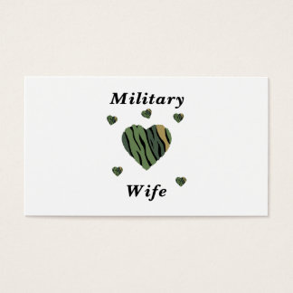 Military Wife Love Business Card