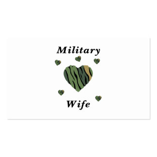 Military Wife Love Business Card Templates