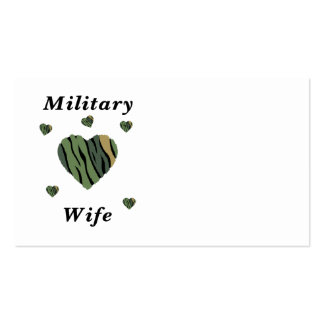 Military Wife Love Business Cards