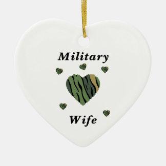 Military Wife Love Ceramic Ornament