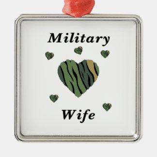 Military Wife Love Metal Ornament