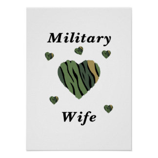 Military Wife Love Posters