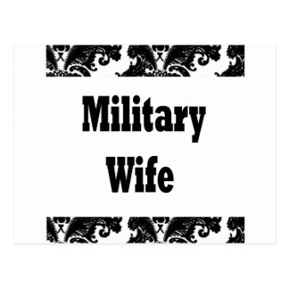 military wife postcard