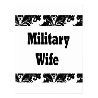 military wife postcard