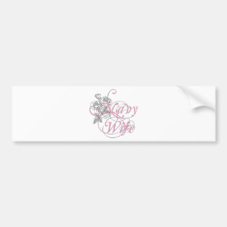 military wife rose bumper sticker