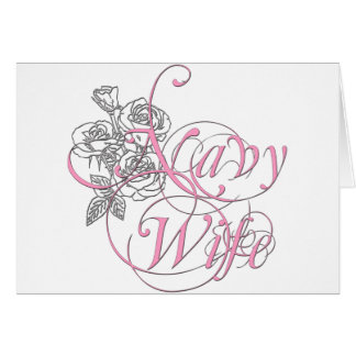 military wife rose card