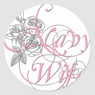 military wife rose sticker