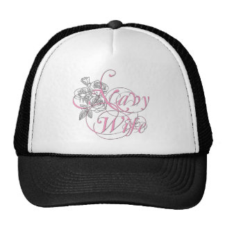 military wife rose trucker hat