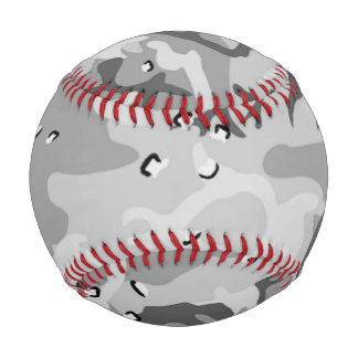 Military Winter Gray Camouflage Pattern Baseball