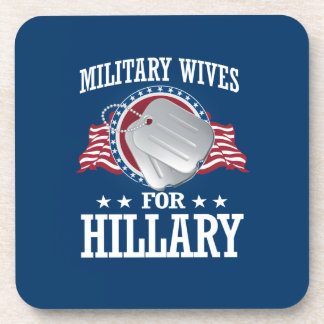 MILITARY WIVES FOR HILLARY DRINK COASTER
