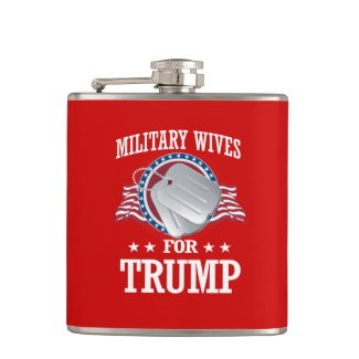 MILITARY WIVES FOR TRUMP FLASK
