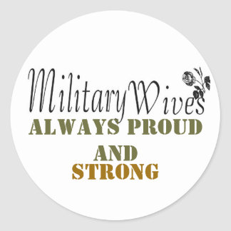 Military wives sticker