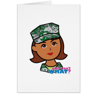 Military Woman Card