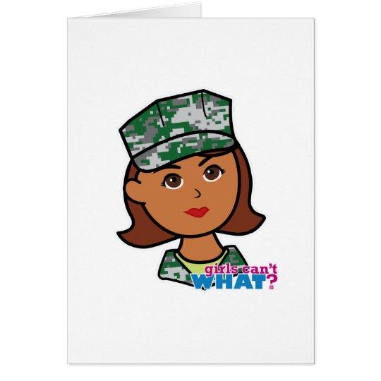 Military Woman Card
