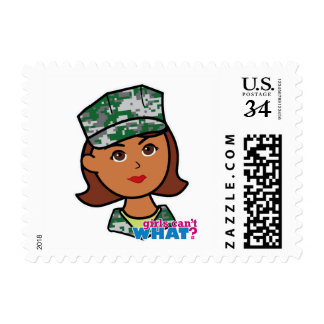 Military Woman Postage Stamps