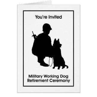 Military Working Dog Retirement Invitation