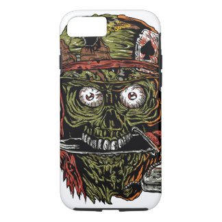military zombie with knife in mouth iPhone 8/7 case