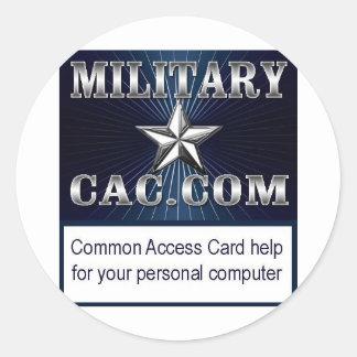 MilitaryCAC Logo Classic Round Sticker