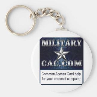 MilitaryCAC Logo Keychain