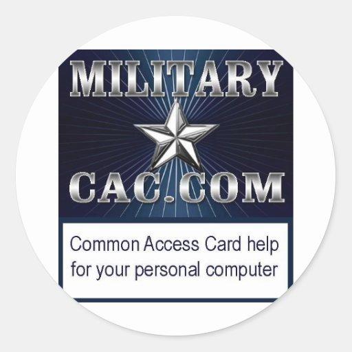 MilitaryCAC Logo Round Sticker