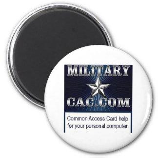 MilitaryCAC memorabilia 2 Inch Round Magnet
