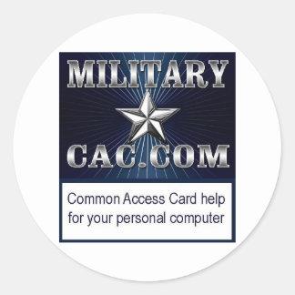 MilitaryCAC memorabilia Classic Round Sticker
