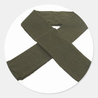 MilitaryScarf072209 Classic Round Sticker