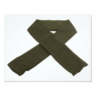 "MilitaryScarf072209 Invitación 4.25"" X 5.5"""