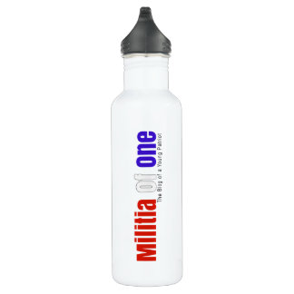Militia Of One Water Bottle