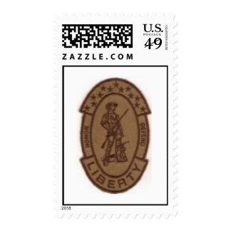 militia patch postage stamp