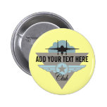 Militray Airplane Club - Your Text Here Pin