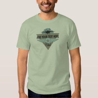 Militray Airplane Club - Your Text Here T-Shirt