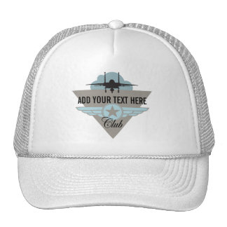 Militray Airplane Club - Your Text Here Trucker Hat
