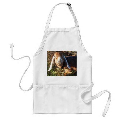 Milk a goat Make some cheese apron