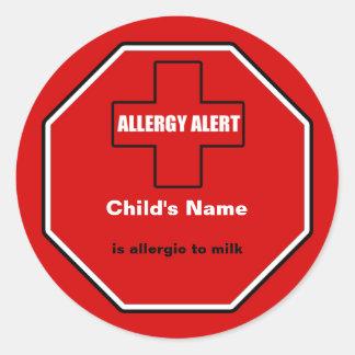 Milk Allergy Medical Alert Custom Std Sticker